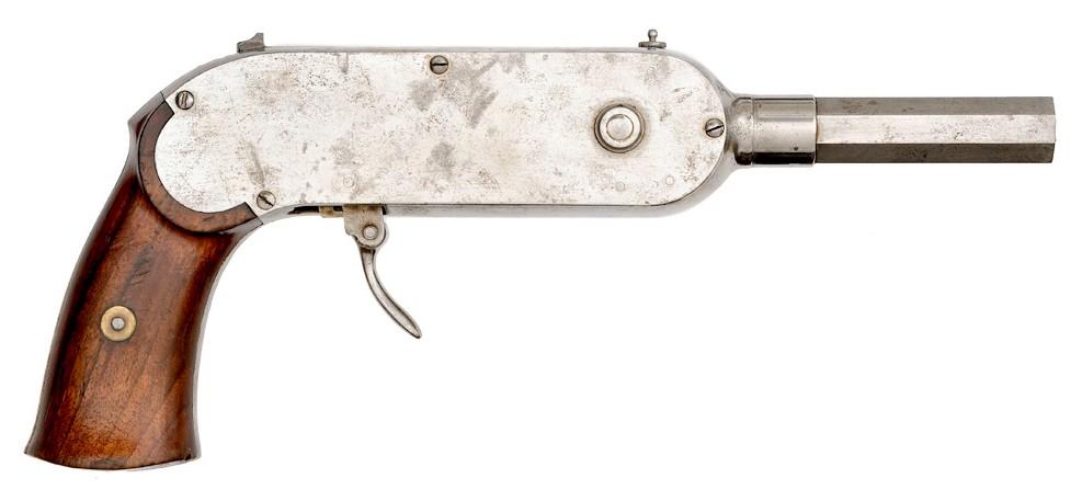 Rare French 25-Shot Guycot Chain Pistol