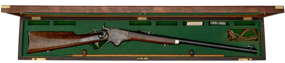 Cased Spencer Sporting Rifle Made for Col. Joseph C. Audenried