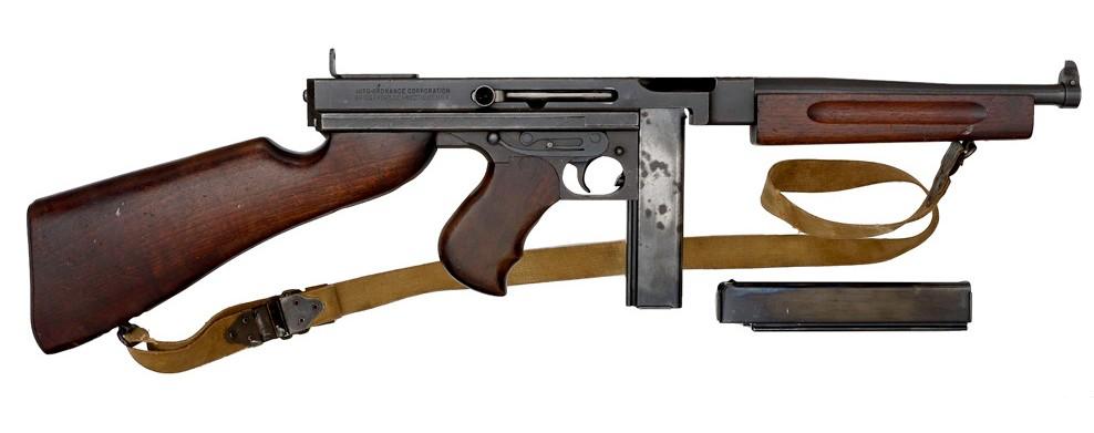 Martially Marked 1942 Thompson Machine Gun Model A1